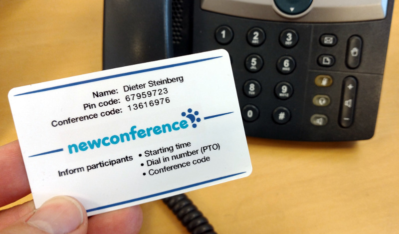 newConference card